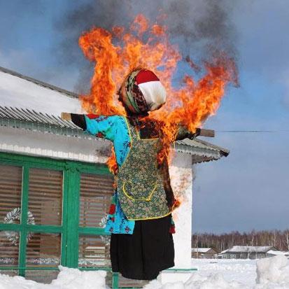 горит-зима