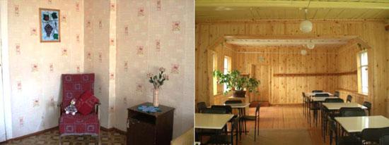 В столовой и спальне Опаринской коррекционной школы-интернат