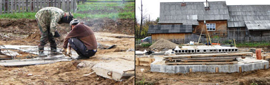 Строительство храма в поселке Опарино