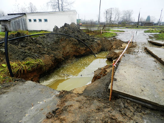 Ликвидация аварии на водопроводе