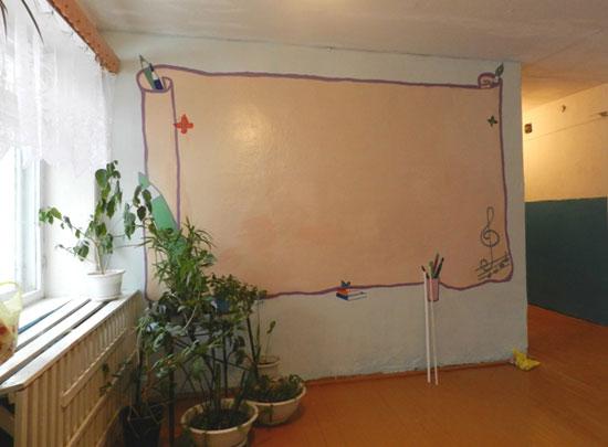 Оформление стен в школе