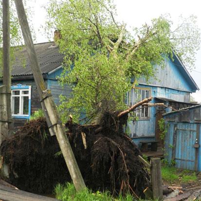Ураган в Опарино