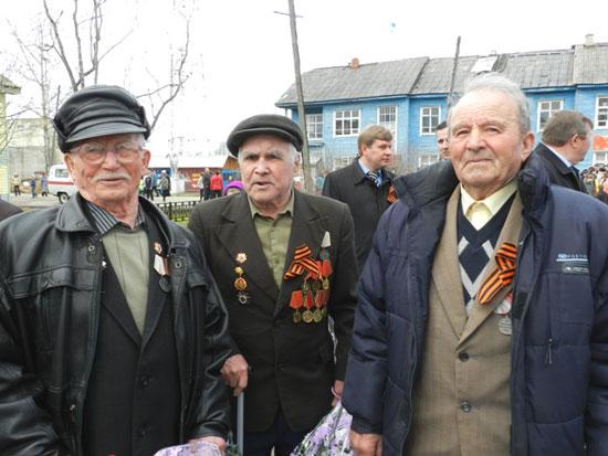 Участники войны, живущие в п. Опарино