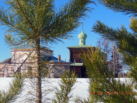 Нижний Починок и Спасская церковь