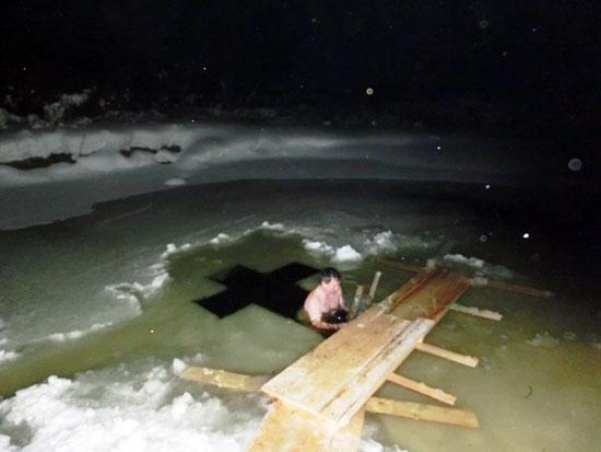 Купель на реке Осиновка