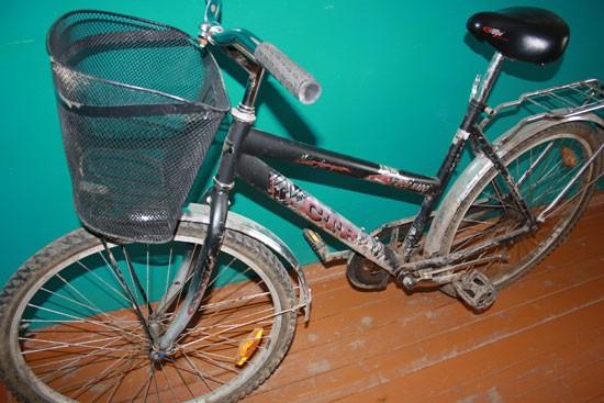 Обнаружен велосипед