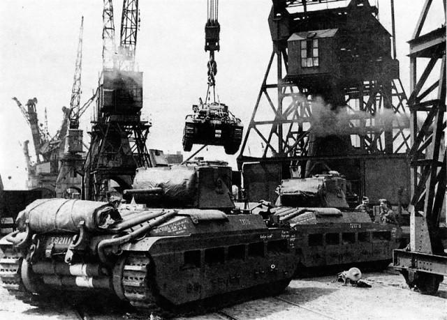 Разгрузка Танков