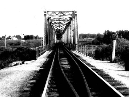Железнодорожный мост через реку Виледь