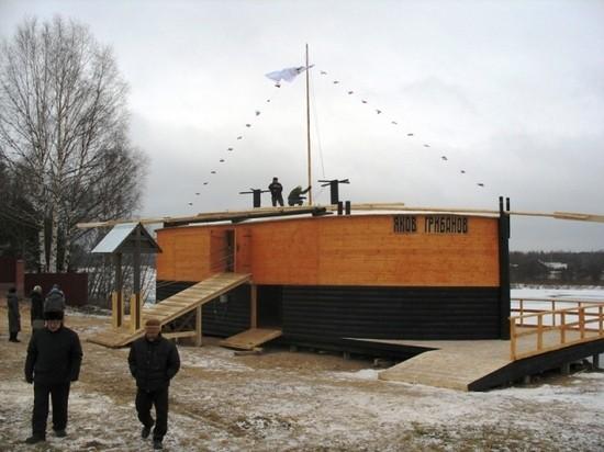 Шхуна-музей «Яков Грибанов» в Подосиновце