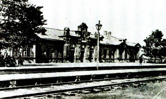 Первый деревянный вокзал станции «Котлас».
