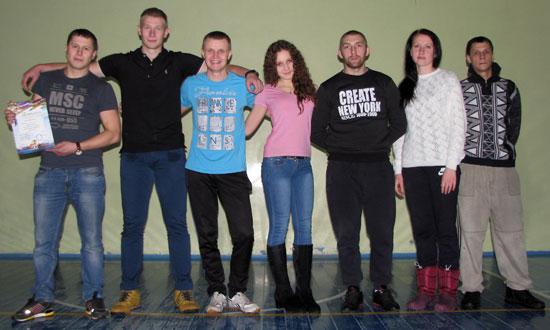 Команда поселка Заря по волейболу