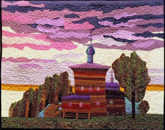 Панно «Вечерний монастырь»