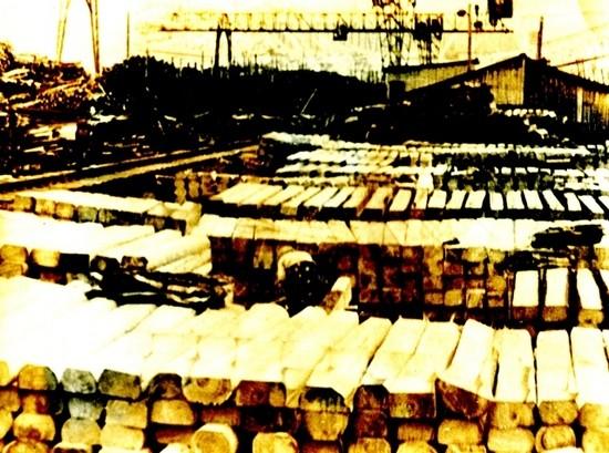 Шпалы готовы к отгрузке с нижнего склада Лимендского леспромхоза