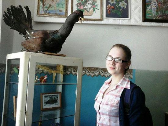 Настя Шипицына в музее