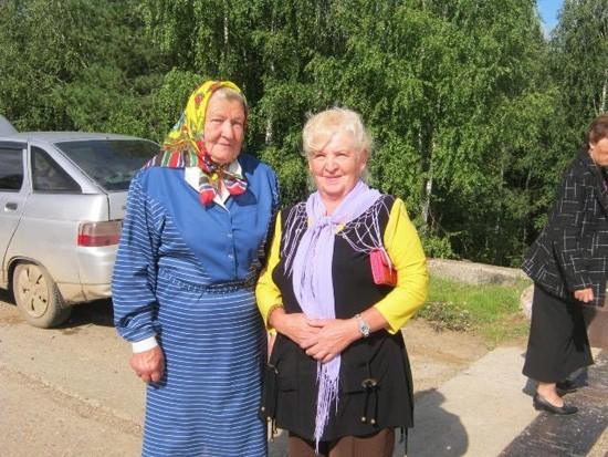 Нина Васильевна Русанова – на Дне села в Шабурах.