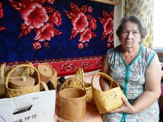 Плетение из бересты Антонины Сухановой