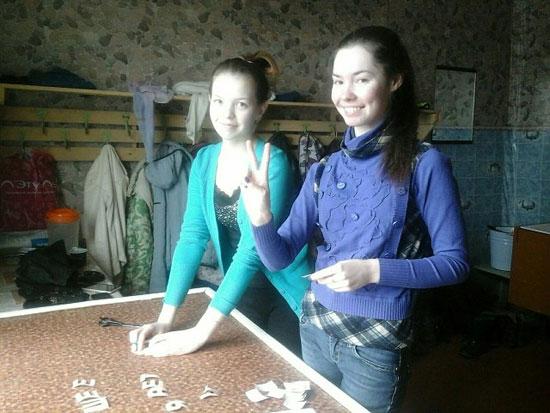 Таня Ишмуратова и Аня Кокоулина