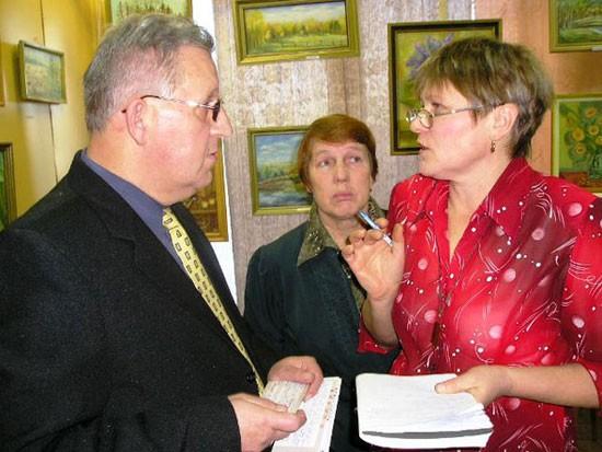 С Н.Н. Шкаредным и Е.А. Шиховой в декабре 2004 года