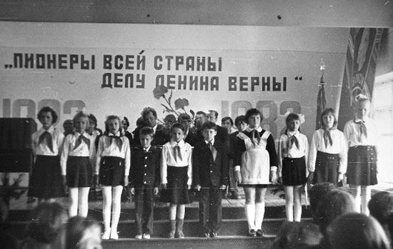 Пионерская дружина одной из школ Опаринского района