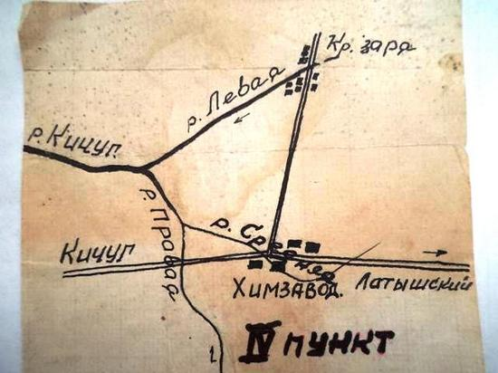 План-схема. Речки Средняя, Правая, Кичуг, Левая.