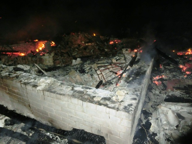 Пожар в  д. Нижняя Паломица