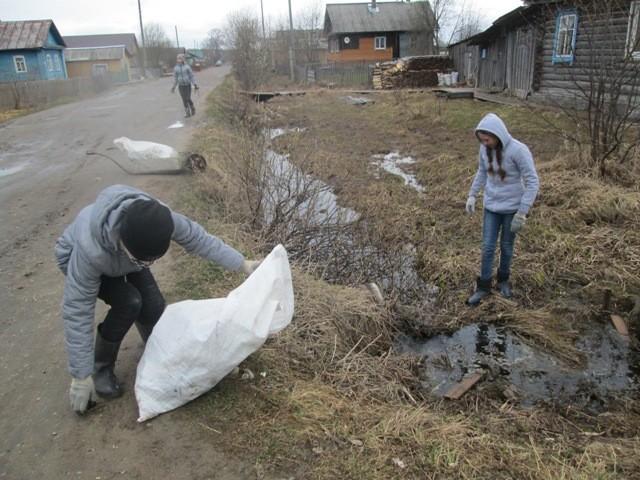 Уборка мусора в Опарино