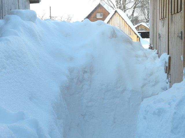 Снегопады в Опаринском районе