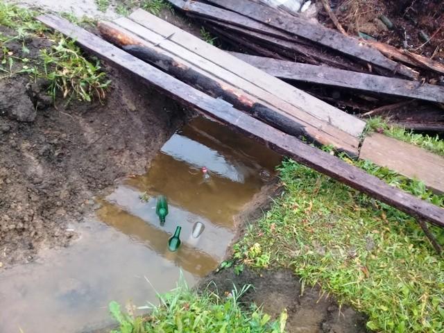Как прокопали водосточную канаву
