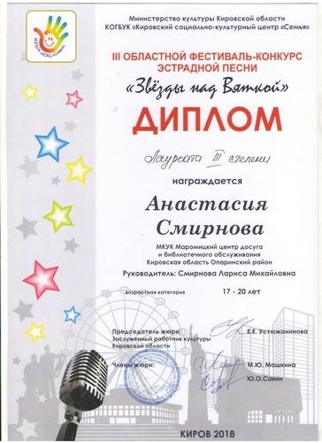 Конкурс эстрадной песни «Звезды над Вяткой»