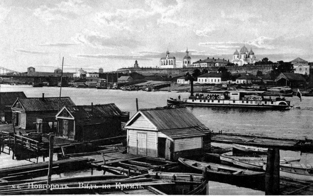 На снимке: Великий Новгород. Вид на кремль.