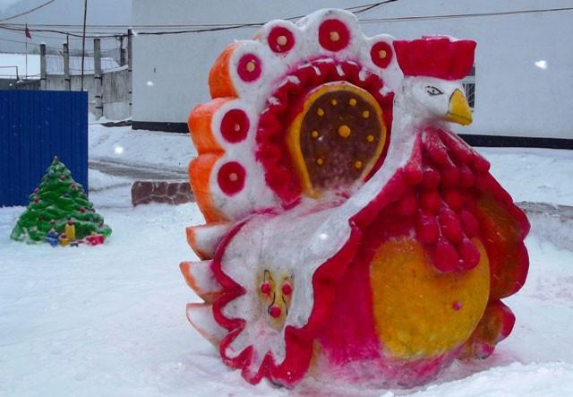 Новогодний конкурс снежных фигур