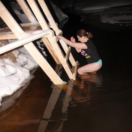 Крещенское купание на реке Осиновка