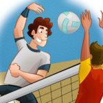 Соревнования по волейболу среди смешанных команд
