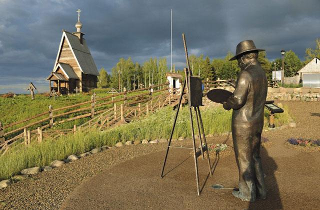 На снимке: так работал Левитан в Плёсе над набросками к картине  «Над вечным покоем»