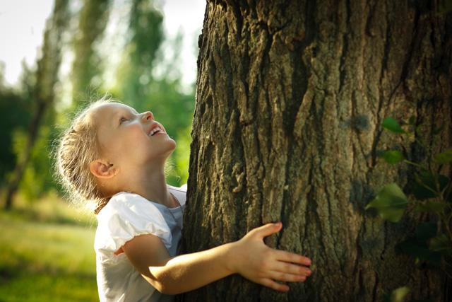 Фото девочки у дерева