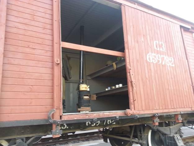 Так выглядит вагон-теплушка
