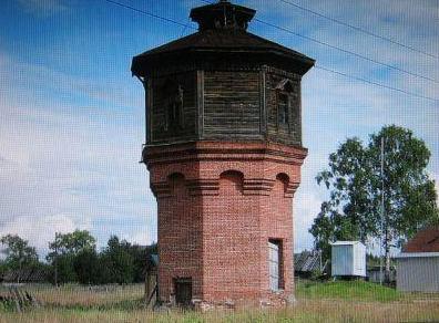 Фото - водонапорная башня в Альмеже (была).