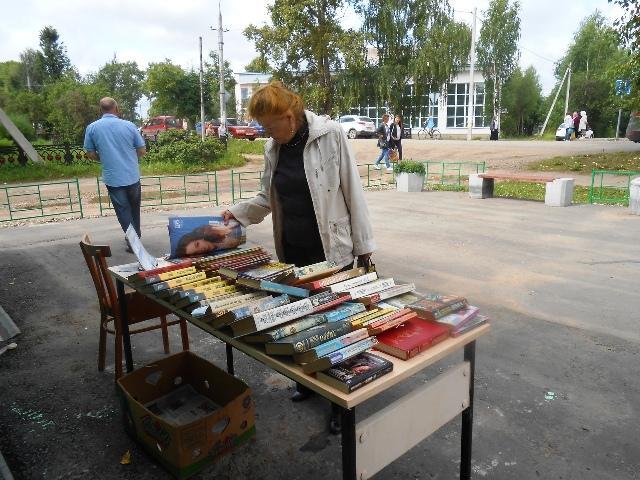На снимке: летний читальный зал Даровской центральной библиотеки.