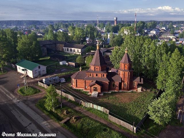 Снимок Михаила Зимина: таким он увидел поселок Даровской.