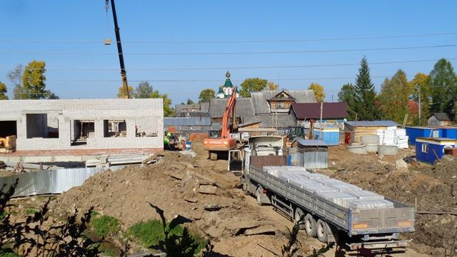 Строительство детского сада-яслей в Опарино