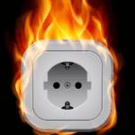 Меры пожарной безопасности при использовании электроприборов!