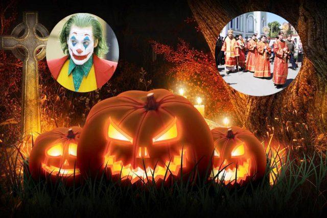 На снимке: фотомонтаж «Хеллоуин: кто сильнее?»