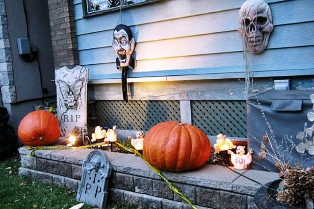 На снимке: выставка, приуроченная к празднованию Хеллоуина в Финляндии.