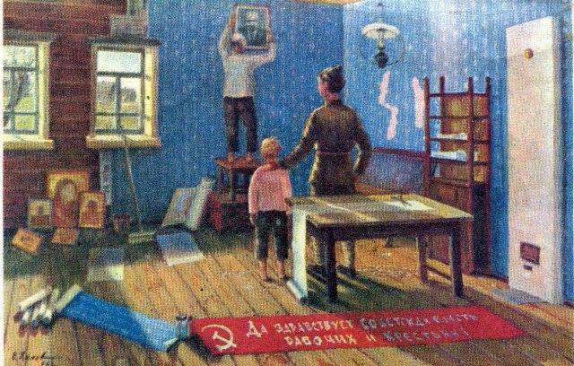На снимке: картина пенсионера Е.А.Ханова из Ивановской области «В новую жизнь»