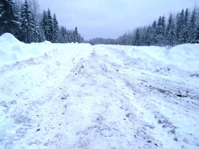 Зимняя дорога до Латышского