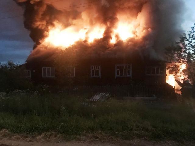 Пожар в Опарино