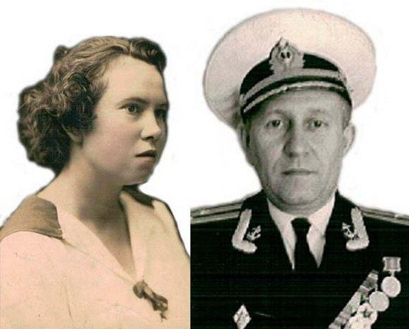 На снимке: Валентина Степановна - сестра Александра Степановича Гриневского - с сыном моряком - Маем Брониславовичем Запольским.