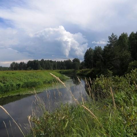 Облака над речкой Моломой