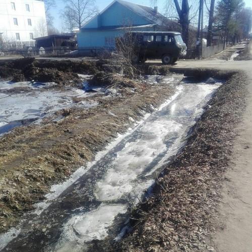 Вода в канаве