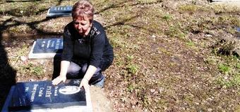 Побывала на могиле деда